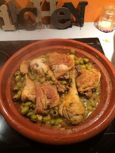 Tajine de poulet au citron confit (façon marrakech)