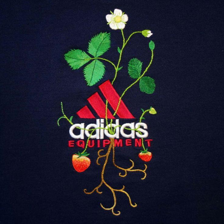Bordando flores en los logos de marcas famosas. Un trabajo del artista islandés James Merry