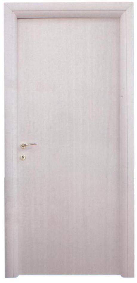 Porta tamburata, legno bianco con venature verticali. porte Piacenza Lodi