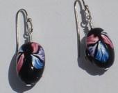 Polymer clay bead earrings