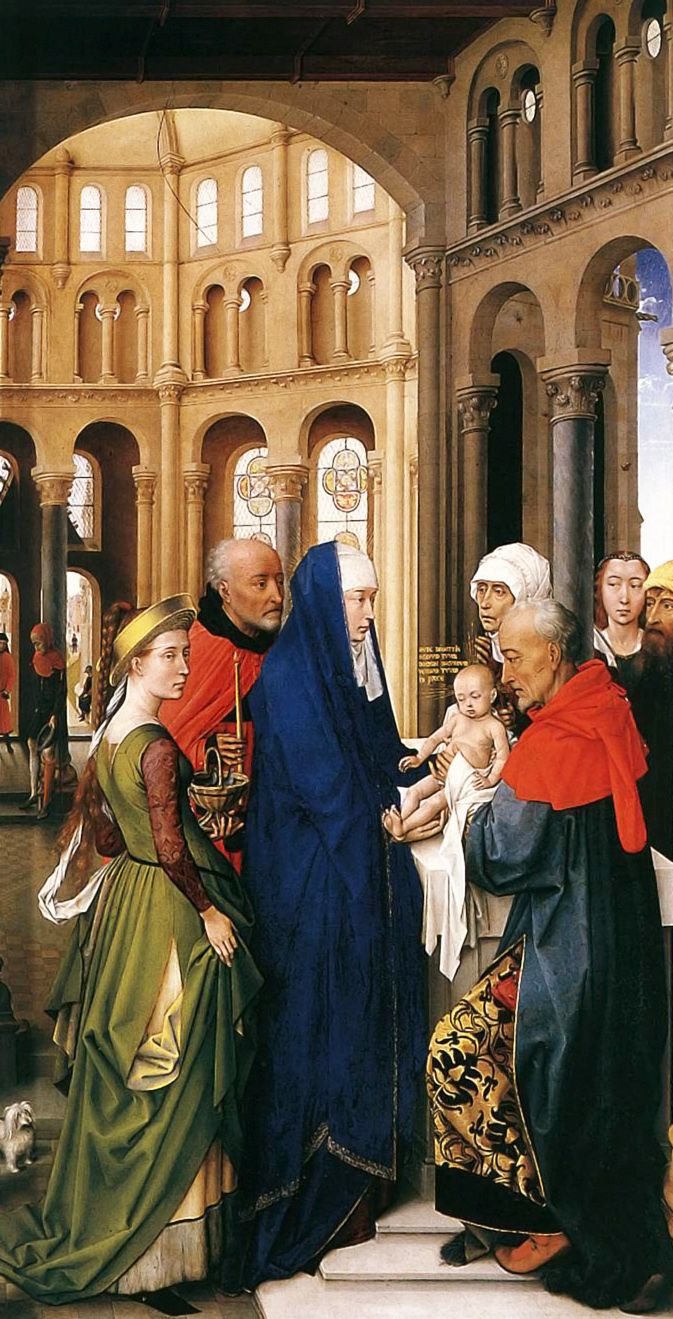 ROGIER VAN DER WEYDEN. St Columba Altarpiece (right panel). 1455.