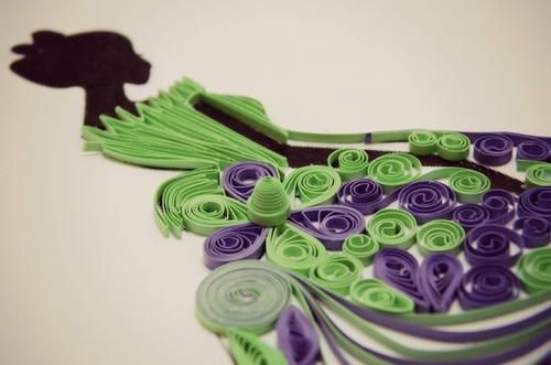 Princess Paper Quilling Design | A beautiful and elegant paper quilling design.