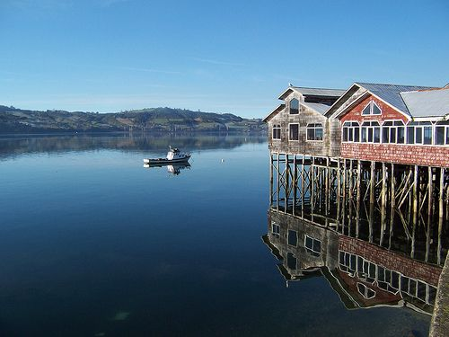 Chiloe is an island on the west coast Pacifica,