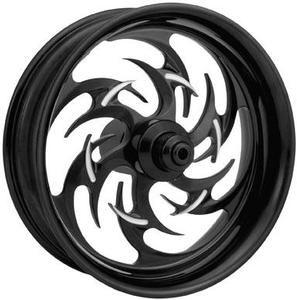 Image of XTREME MACHINE Reaper Rear Rim Black Cut 17 Inch X 6 Inch- Harley Davidson FXSTCB 08-10 - 465997