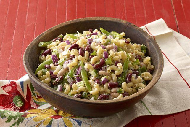 Salade de macaroni aux trois haricots