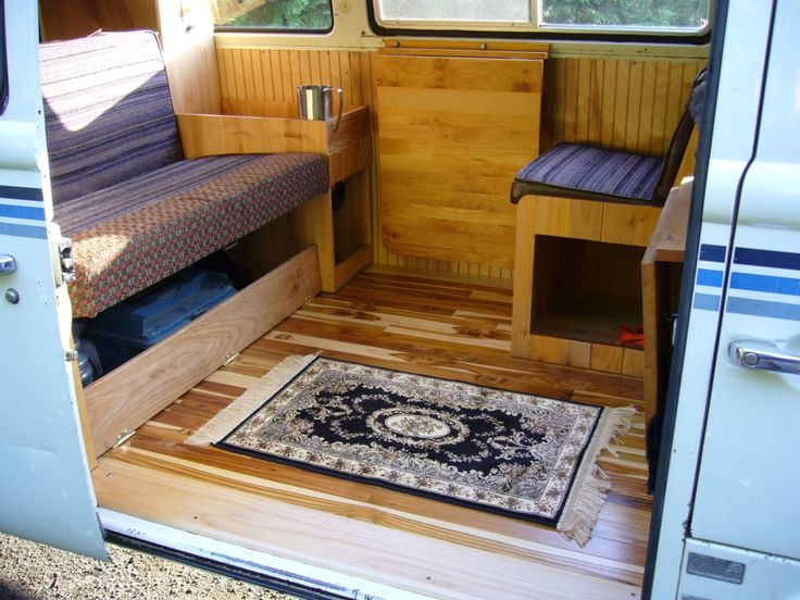 Love The Wood Floors Camper InteriorVan
