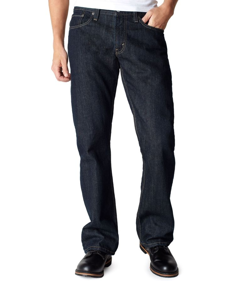 Levi's 527 Slim Bootcut Fit Tumbled Rigid Wash Jeans
