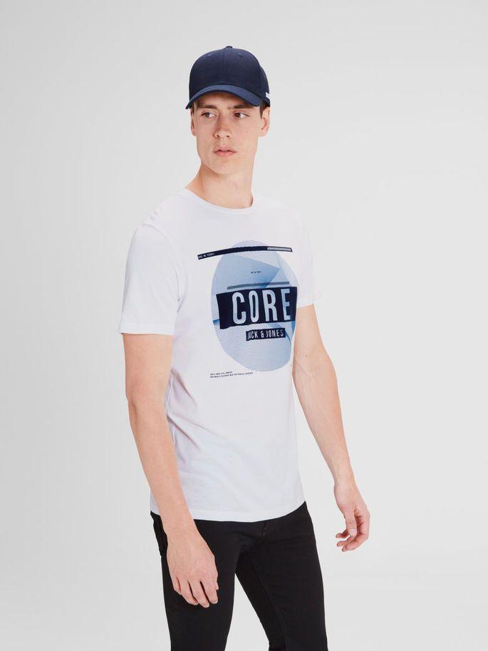GRAFISK T-SHIRT, White, large