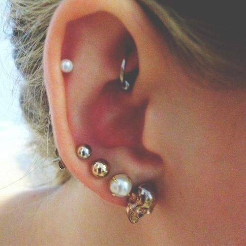 Ear piercing ideas. Can never have enough