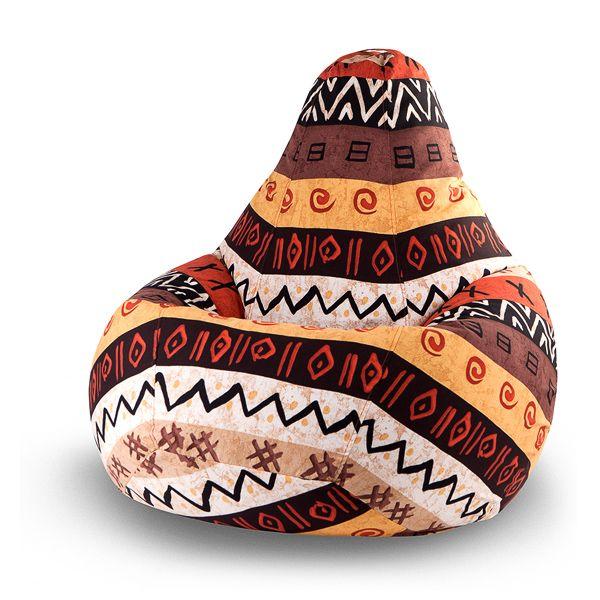 Кресло-мешок Morocco XL (принт) Интерьер вашей квартиры или офиса выполнен в экзотическом стиле? Вам нравятся вещи, напоминающие о путешествиях в дальние страны? Тогда это кресло специально для вас! Чехол кресла-мешка «Morocco» выполнен из ткани с пёстрыми узорами в стиле загадочной африканской страны – Марокко. Тёплые тона охры, терракоты, песочного цвета в сочетании с затейливыми узорами не оставят равнодушными любителей настоящей экзотики!