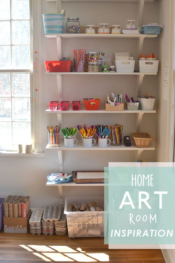 make your own art space at home for your kids with this one helpful book