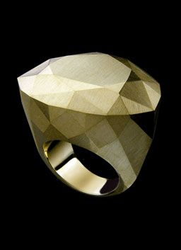 H.Stern Diane von Furstenberg Power Ring in 18K Brushed Yellow Gold at London Jewelers!