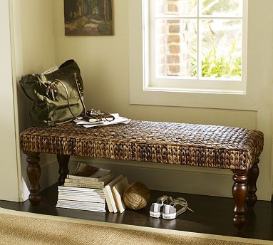seagrass bench havana dark potterybarn for the home someday pinterest benches. Black Bedroom Furniture Sets. Home Design Ideas