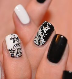 31 Tage Nail Art Challenge - Tag 30 - Schwarz & Weiß