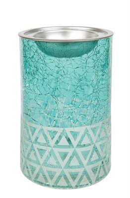 Melt Warmer-Cote d Azur Sandblast Cote d Azur Sandblast Melt Warmer. Aromalampa från Yankee Candle. Glas lampa med topp i metall.