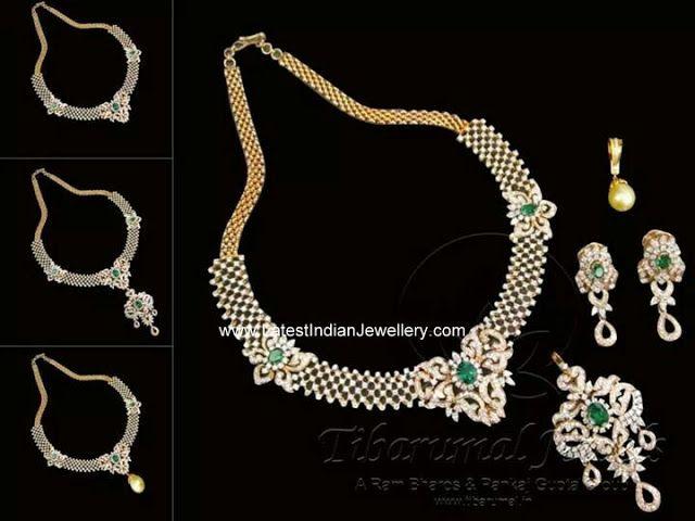Tibarumal 3 in 1 Diamond Necklace