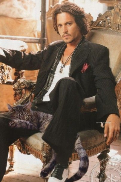 2 GATOS Johnny Depp, great style, neat, simple yet so personal