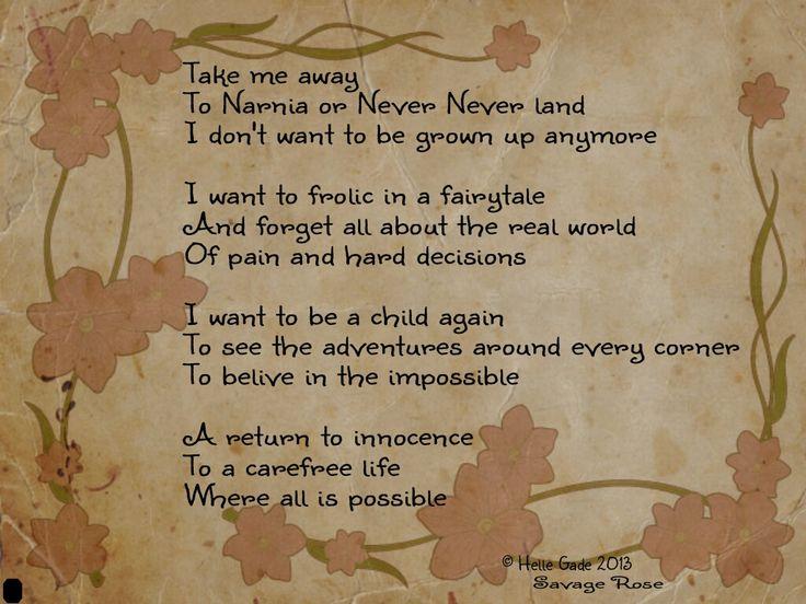 Take Me Away  #poetry