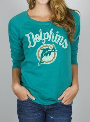 NFL Miami Dolphins Field Goal Fleece w/ Embroidery - Women's Collections - NFL - All - Junk Food Clothing