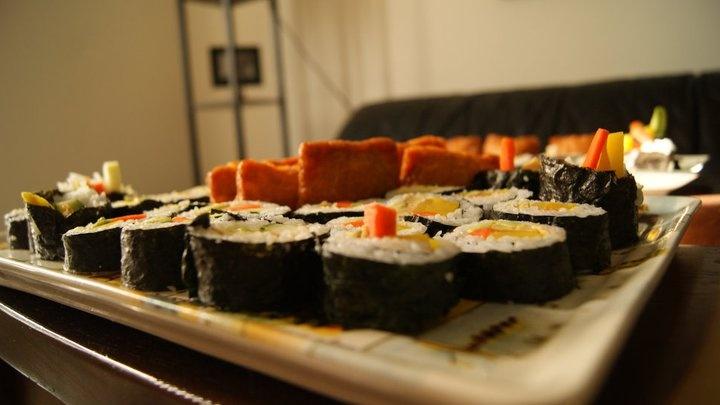 Futomaki + Inari Sushi