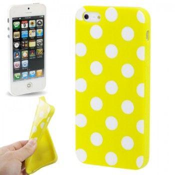Dot Stylish TPU Shell for iPhone 5 - Yellow