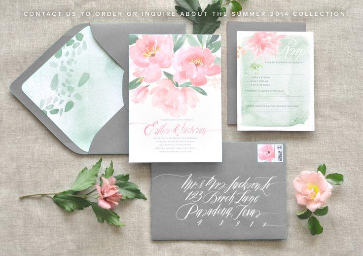 Bohemian Garden Wedding Stationery www.juliesongink.com