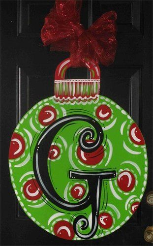Christmas Ornament Hanger for front door~ love this idea and as a