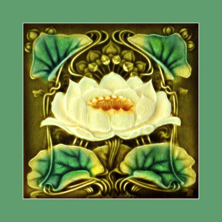 81 Art Nouveau tile by Marsden (1900). Courtesy of Robert Smith from his book…