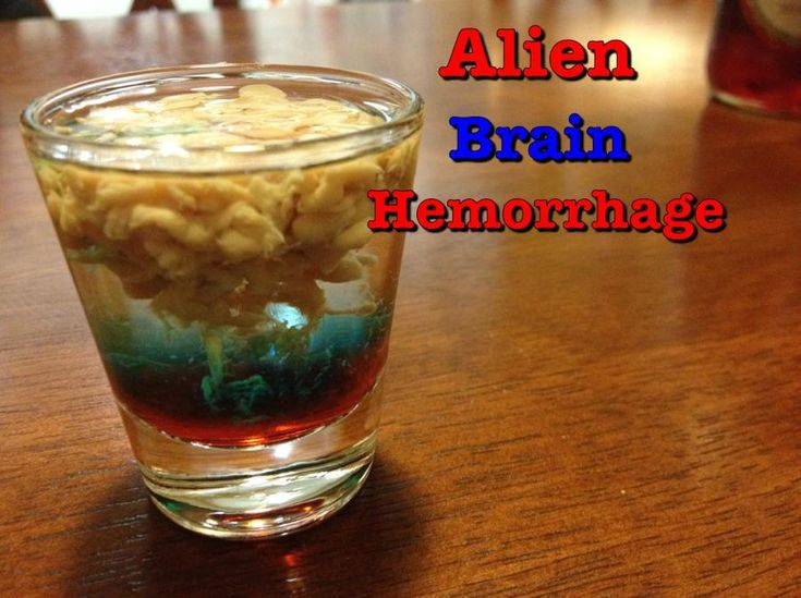 Brain Hemorrhage Mixed Drink