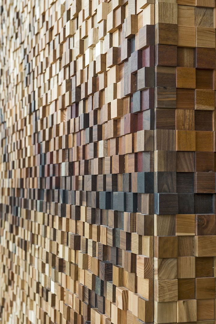 Lululemon's Yorkdale store textured wall #wood #architecture #stylepark