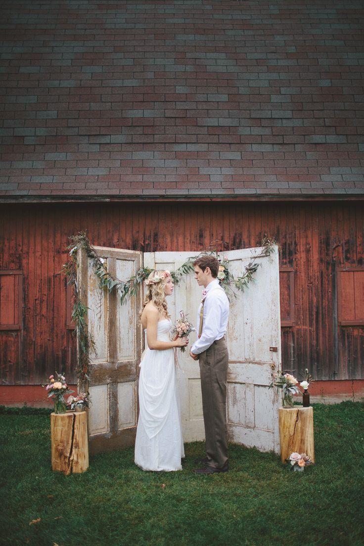 Rustic Bohemian Wedding Inspiration  Wedding Ceremony  Diy wedding backdrop Rustic bohemian