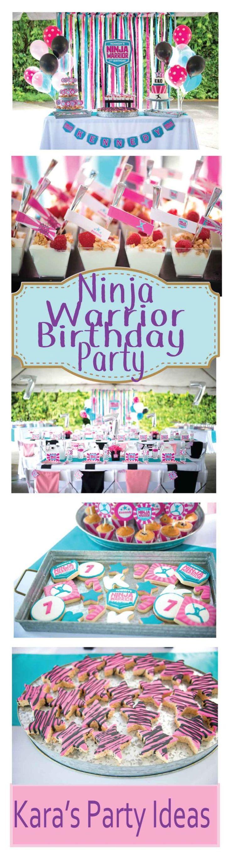 From kara s party ideas rustic dessert table display designed by - Ninja Warrior Birthday Party Via Kara S Party Ideas