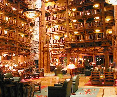 Wilderness Lodge lobby... I would never want to stay in a different resort