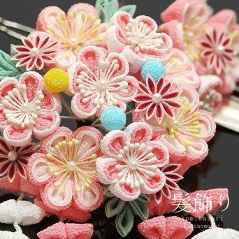 Japanese Kanzashi - Beautiful!!!!!!!!