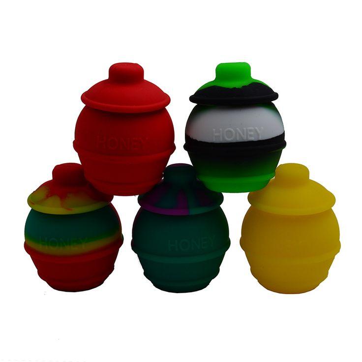 35ml Honey Pots Bho Silicone Container for butane Oil/concentrate/wax/hash oil - Non Stick Slick oil silicone Dab wax jar