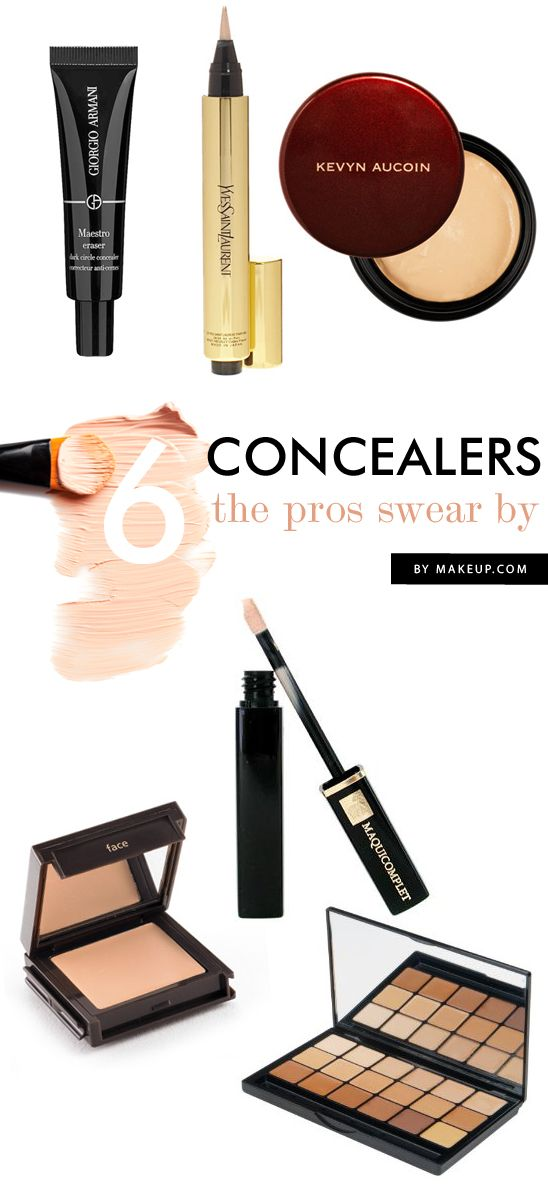 When the sea of makeup choices seems all too overwhelming sometimes it's nice to have guidance of a pro. Since concealer is one of those products that simply must preform well, we reached out to our favorite makeup artists to help us narrow the options. Here are the six picks they apply on their clients and themselves.