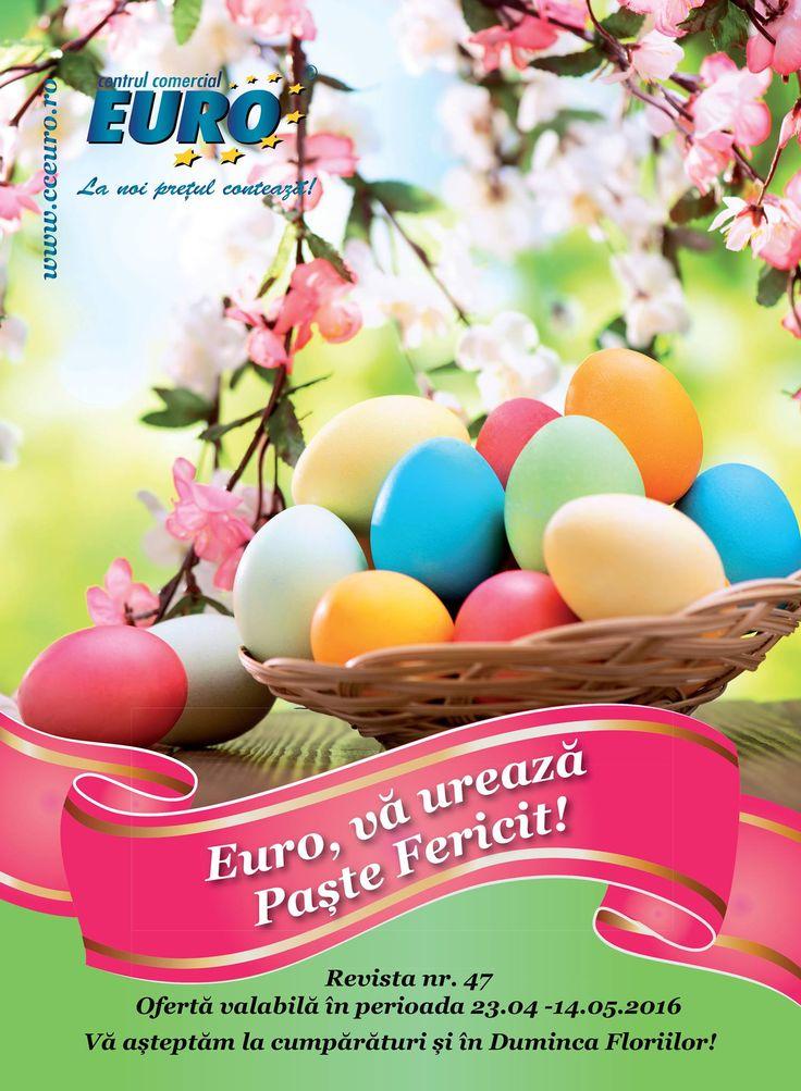 Catalog Centrul Comercial Euro Oferte de Pasti 2016 cu oferte in perioada 23 Aprilie - 14 Mai 2016! Oferte si recomandari: oua caucic 2.50 lei