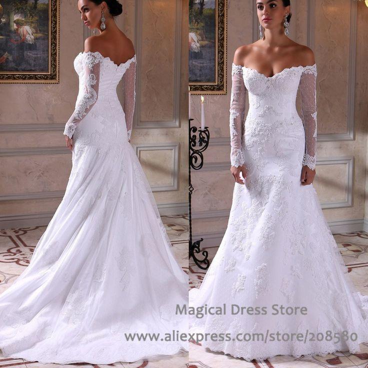 Popular Drop Shoulder Wedding Dresses-Buy Cheap Drop Shoulder ...
