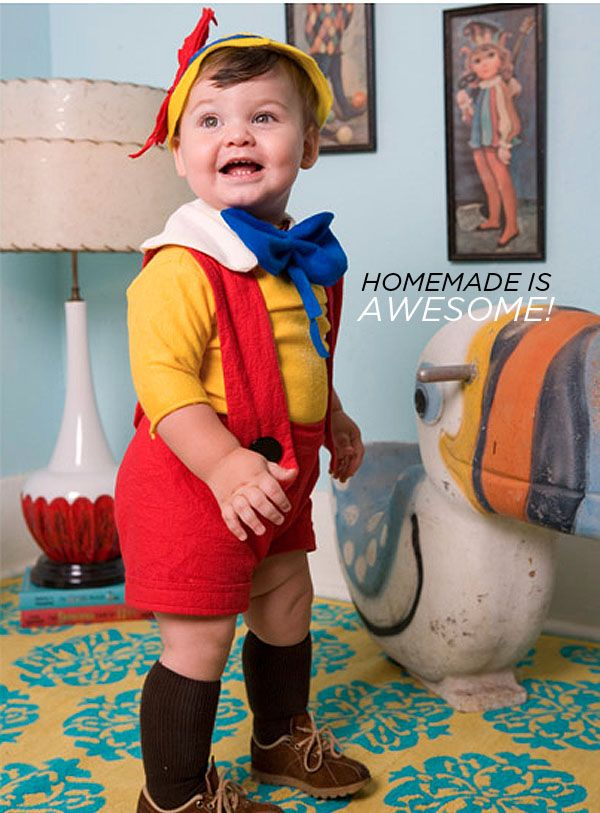 pinocchio costume and 28 other diy kids halloween kid kid girl boy baby - Simple Toddler Halloween Costumes