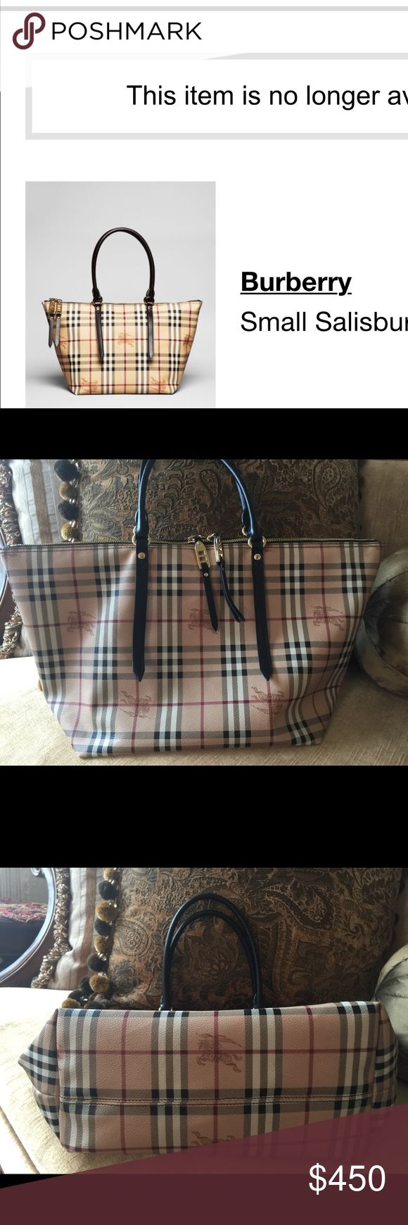 Burberry shoulder bag Authentic Burberry Medium Salisbury Haymarket Check Tote & Dust Bag. Seriously offer plz .what u see is what u get. Like new very good condition it's just big for me cuz I'm petite person Burberry Bags Shoulder Bags