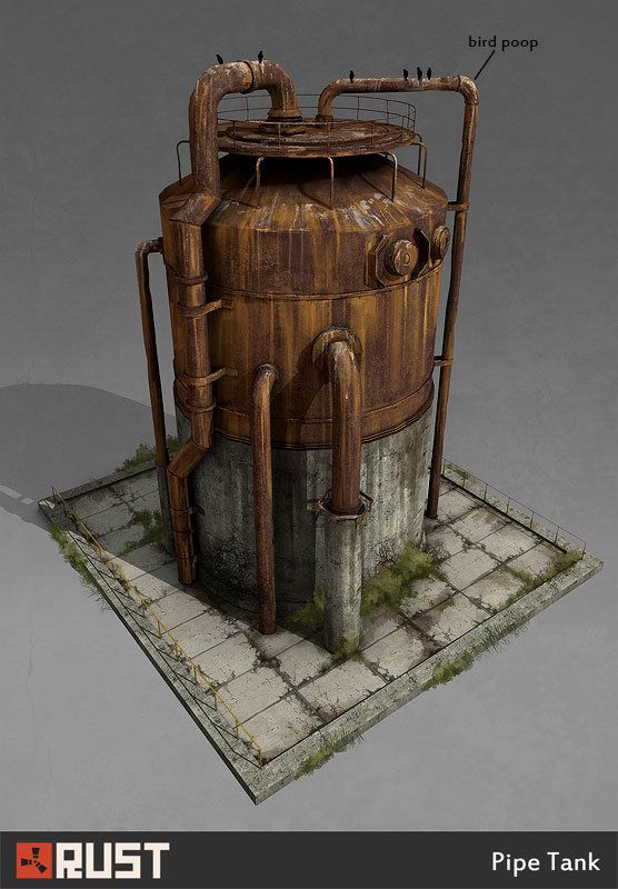 Rust - Radtown Buildings, Howard Schechtman on ArtStation at…