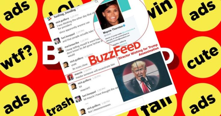 BuzzFeed Responds to Revelation Employees Joked About Trump's Assassination