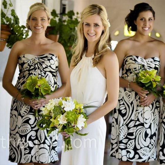 abiti damigella bianchi neri vintage stampati