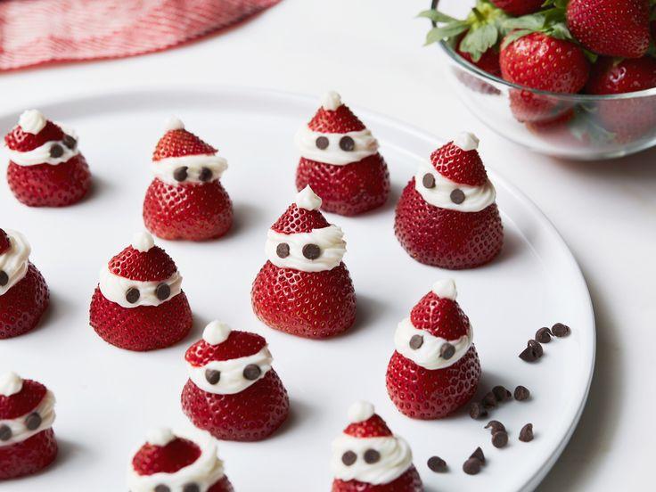 Strawberry Santas recipe from Giada De Laurentiis via Food Network