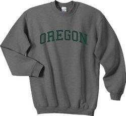 University Of Oregon Ducks Sweatshirt Charcoal Gray
