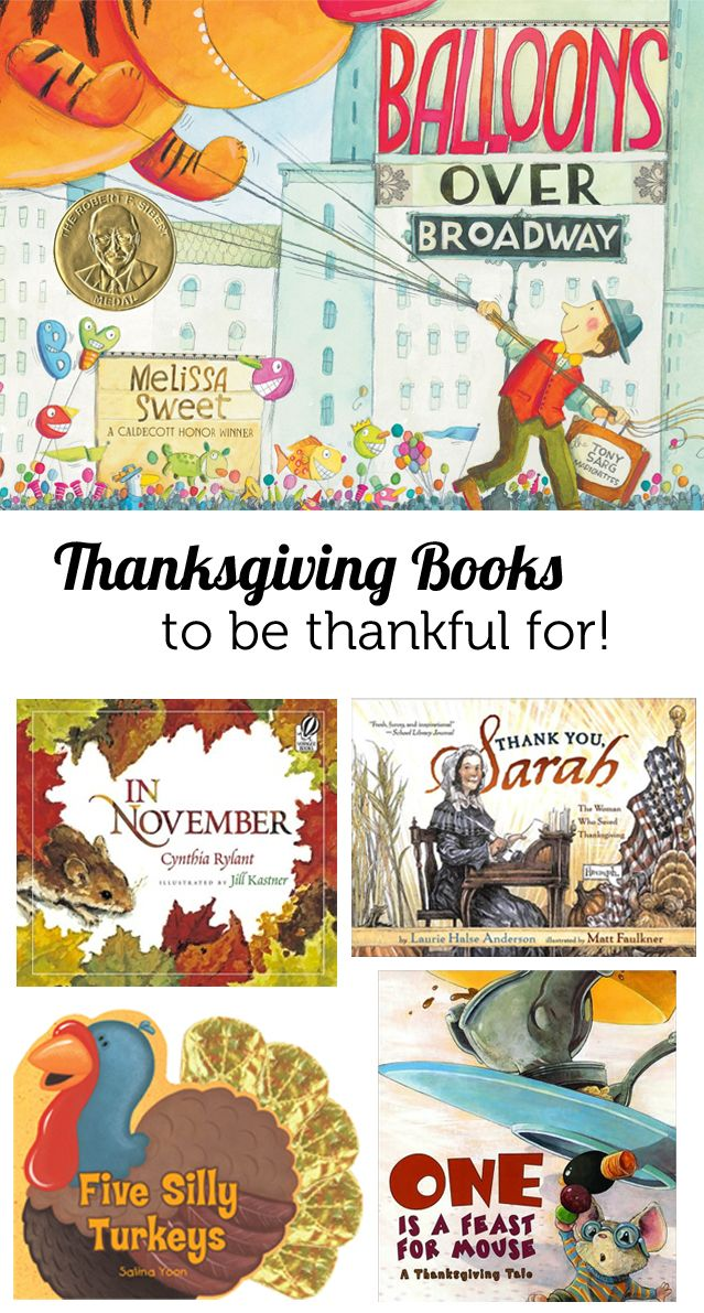 Thanksgiving books for the kids - recommendations from a children's librarian.