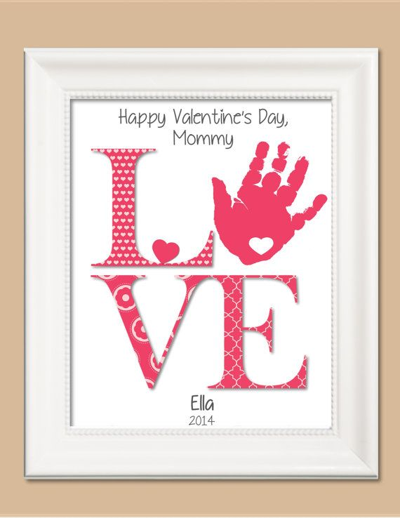 211 best love valentines weddings and gifts from the heart love handprint art personalized baby nurserychilds room parent gift mothers negle Images