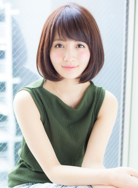 年齢問わず耳かけワンカールひし形ボブ 【AFLOAT JAPAN】 http://beautynavi.woman.excite.co.jp/salon/28130?pint ≪ #bobhair #bobstyle #bobhairstyle #hairstyle・ボブ・ヘアスタイル・髪型・髪形 ≫