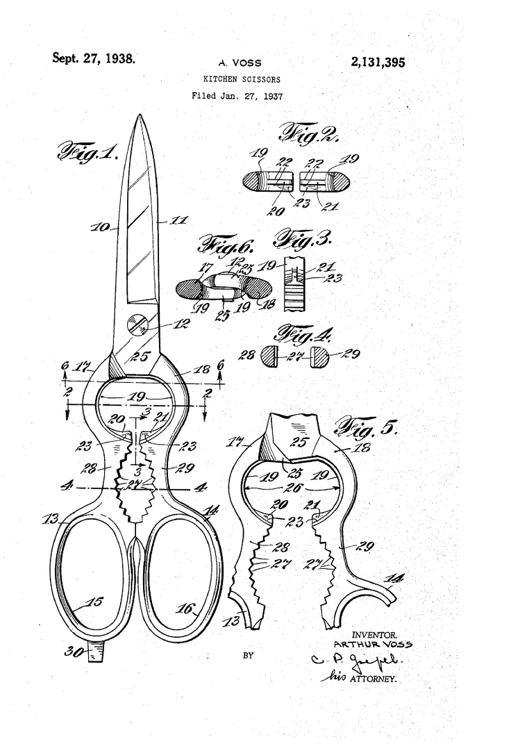 Patent US2131395 - KITCHEN SCISSORS - Google Patents