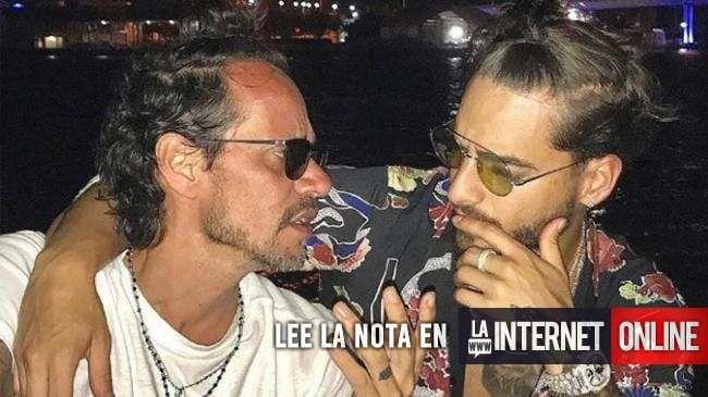 Marc Anthony sorprendió con una foto en su Instagram donde está besando a Maluma, su amigo. Se encontraron en el concierto que dio en México y charlaron un rato en los camarines. La postal ya recorrió el mundo y es furor. #Maluma #marc anthony #mariposas